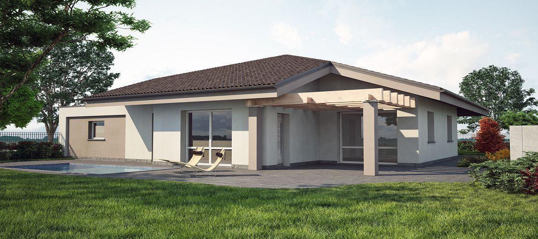 Cantiere in partenza una nuova casa in legno a cremona for Progetto ville moderne nuova costruzione